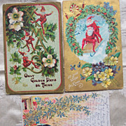 Christmas Gnomes Postcards - Early 1900's