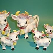 Family of Cows Table Figurines
