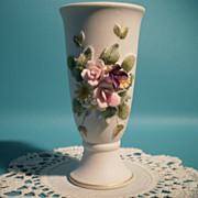 SOLD Lefton Porcelain Bisque Vase Small
