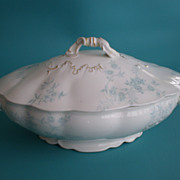 Meakin Bowl & Cover Antique Porcelain