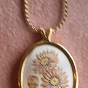Reed & Barton Necklace Damascene September Aster