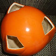 SOLD Rum Rill Orange Art Pottery Vase