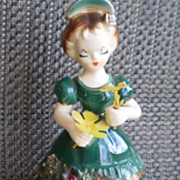 Vintage Tilso Ceramic Porcelain Girl Figurine