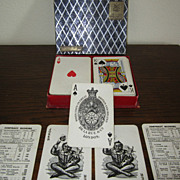 SOLD Rare THOMAS DE LA RUE Pneumatic Antique Playing Cards - Victorian Era