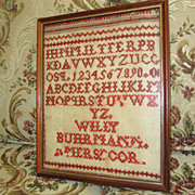 Antique Embroidery Sampler of the Alphabet