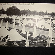 Two Postcards from Camp Fremont California 1921