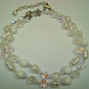 Beautiful Vendome Necklace with White Wedding Cake Beads