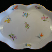Delicately Beautiful Herend Porcelain Pin Dish with Hand Painted Flowers
