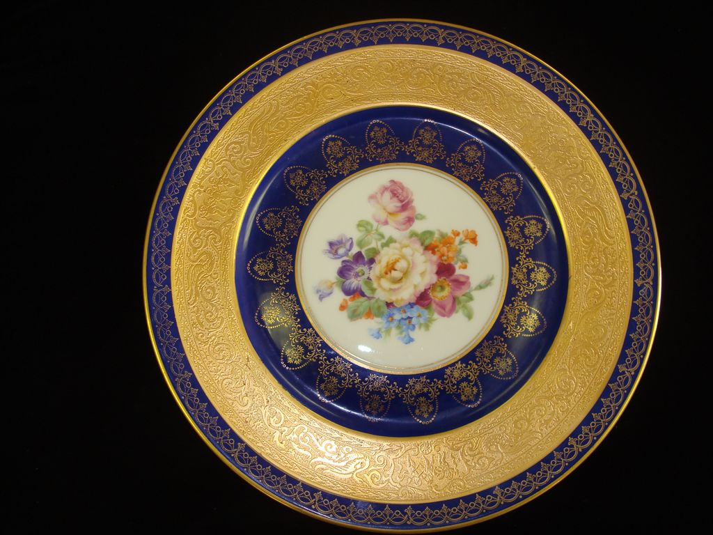 Gorgeous Czechoslovakian / Bohemia Cabinet Plate Decorated by Peerless