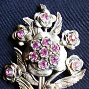 Little Nemo Pot Metal Brooch with Purple Stones