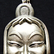 FUN Pewter Colored Laughing Buddha Necklace by Vendome