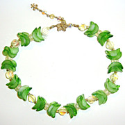 Dynamite Apple Green Vendome Necklace with Givre Beads