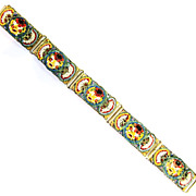 Vintage Floral Mosaic Bracelet ; Made in Italy