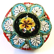 Small Micro Mosaic Pin; Made in Italy