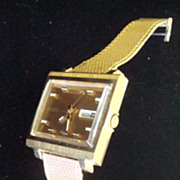Seiko 6119-5000 Man's Watch with Gold Plated Band  ~  &quot;Mad Men&quot;