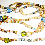 "Opera Length Necklace with Multicolor Beads; 46"" of Fun !!"