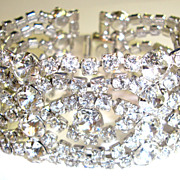 Drop Dead Gorgeous HUGE Hattie Carnegie Rhinestone Bracelet