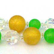Yummy Vendome Bracelet in Lime, Champagne & Silvertone