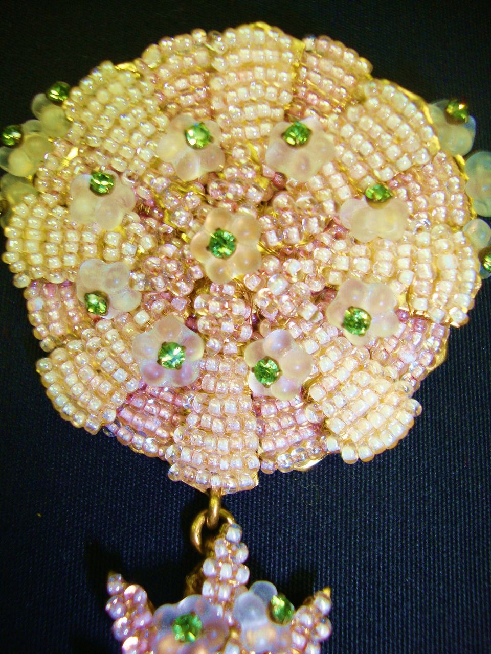 "Delicately Beautiful Pale Pink  5"" Pin; Stanley Hagler N.Y.C."
