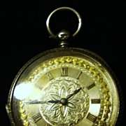1883 Sterling Lady's Watch with Gold Wash Dial ~ London