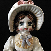Music Box Lefton 1983 Musical Doll Plays Fascination