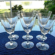 Fostoria Engagement  Set 6 Water Goblets 1960-1982