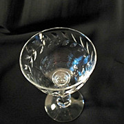 Cambridge 6 Laurel Wreath Engraved Crystal Cocktail Glasses