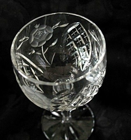Vega Pattern Cordial Glass Vintage Imported Cut Lead Crystal