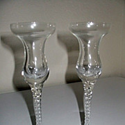 SALE Studio Nova  Crystal 2 Twisted Stem Candle Holders Venice