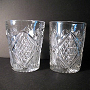 EAPG Pennsylvania Tumblers Set 2 Late 1880s