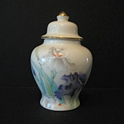 SALE Otagiri Iris Bouquet Ginger Jar