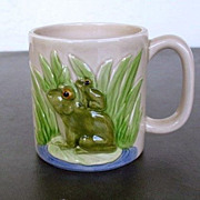 Otagiri Mugs 4 Frogs Mug Mom and Baby 1980