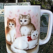 Otagiri Cute Four Little Kittens Ceramic  Mug Made in Japan