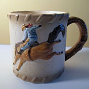 Otagiri  4 Rodeo Cowboy Coffee Mugs