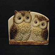 Pen and Letter Holder Otagiri Owls Made in Japan