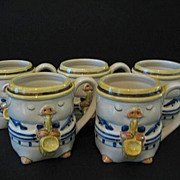 REDUCED Otagiri Jazzy Pigs or Swinging Swine 6 Coffee Cups