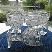 Water Goblets 6 Imperial Glass Tradition