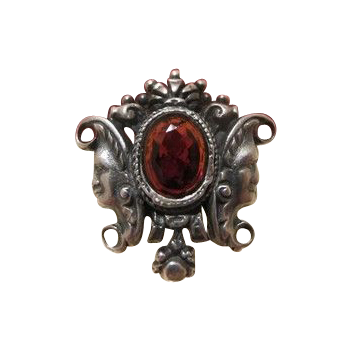 Silver and Garnet brooch, 19th century