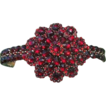 Antique Bohemian Garnet bangle in the shape of a flower head, dated at about 1900