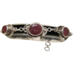 Antique silver and Bohemian Garnet bracelet, dated at the early 20th century