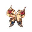 Trifari Alfred Philippe 1940s gold plated Sterling butterfly brooch