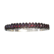 Garnet hinged bangle/bracelet, early 20th century