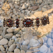 Antique Bohemian and silver Garnet bracelet, 19th century