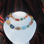 A necklace of fine semi precious beads, dated at about 1950