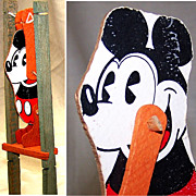 SALE Mickey Mouse Wood Trapeze Toy, 1930's