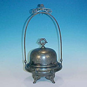 Antique PAIRPOINT Quadruple Silver Plate Butter Dish - Aesthetic Movement
