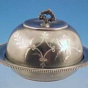 WALTHAM JEWELERS Quadruple Silverplate Covered Butter Dish
