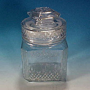 Vintage KOEZE'S Glass Apothecary Lidded Candy Jar