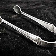 E. & J. BASS Silver Plate Sugar Tongs