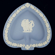 WEDGWOOD JASPERWARE Spade Tray Pale Blue Bridge Collection (c. 1969)